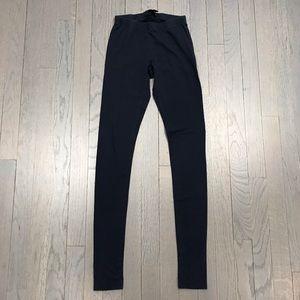 Aqua Bloomingdale's Navy Blue Long Leggings Pants